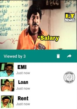 Whatsapp seen status salary memes