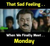 Monday sad feelings memes