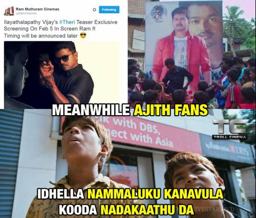 Theri vijay fans celebration memes