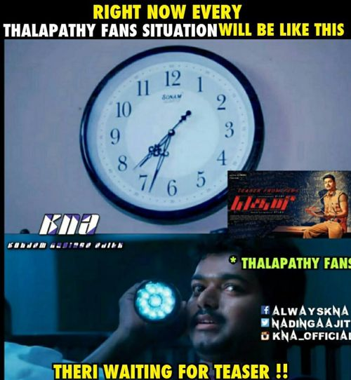 Theri teaser at 12am midnight feb 5th