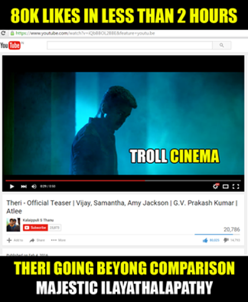 Theri youtube records memes
