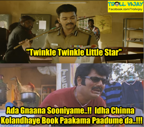 Theri teaser twinkle twinkle star song memes and trolls