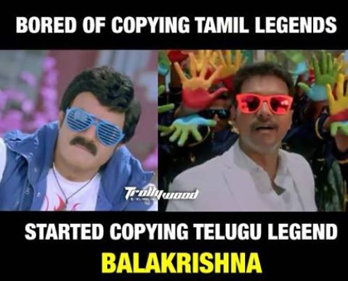 Vijay copied Balakrishna memes and trolls
