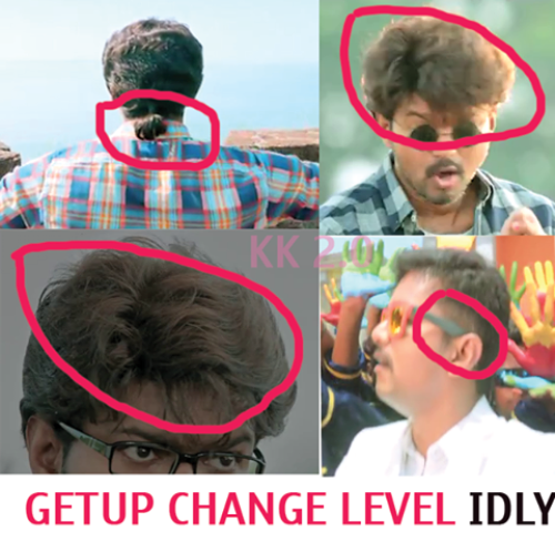Theri hairstyle getup change memes and trolls