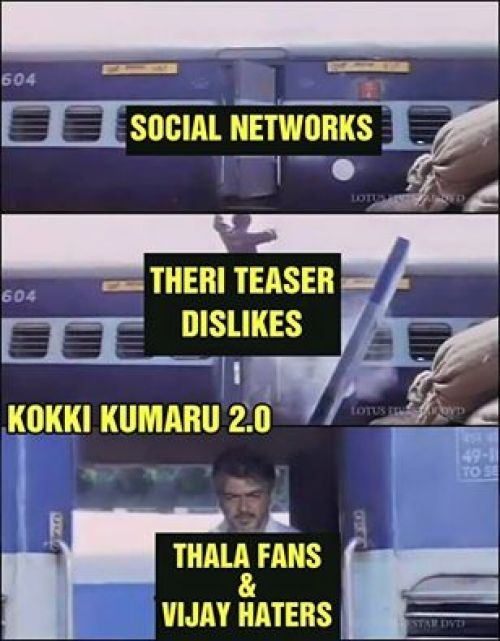 Ajith fans trolling theri teaser memes