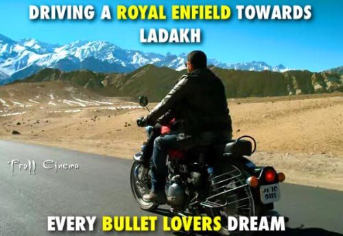 Theri movie vijay riding Royal Enfield