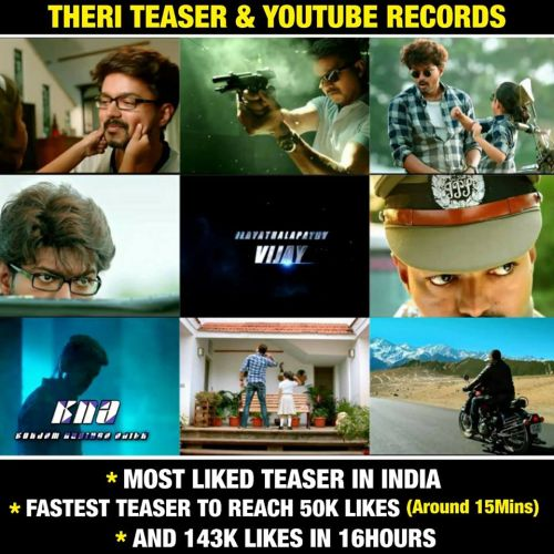 Theri different vijay getups images