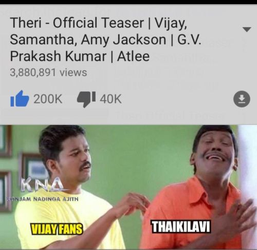 Theri youtube record trolls and memes