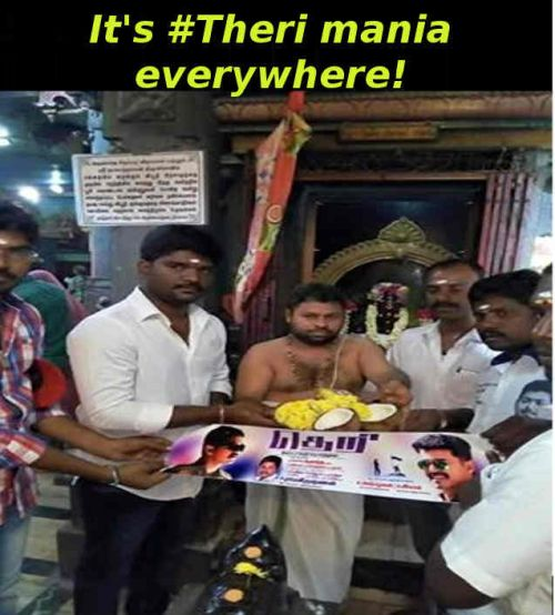 Theri teaser celebration memes