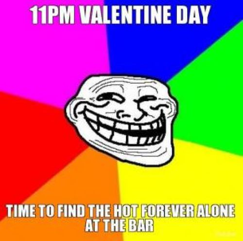 Valentines day trolls in english