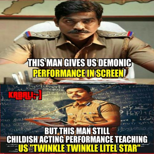 Theri police getup memes