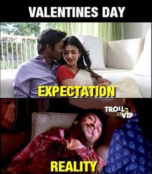 Lovers day expectation reality memes