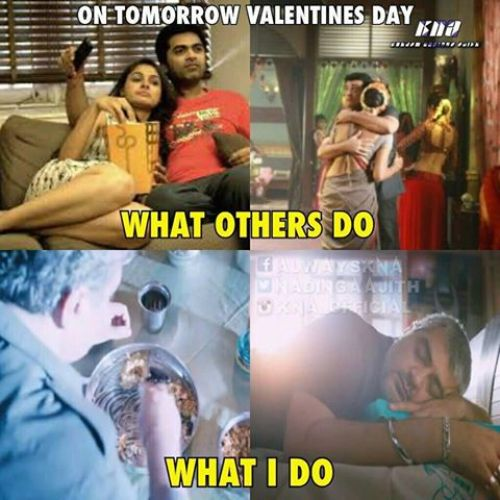 Valenties day committed boys tamil memes
