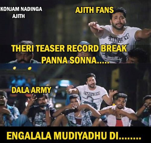 Theri teaser record in youtube