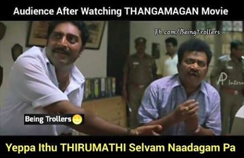 Thangamagan is like thirumathi selvam serial troll