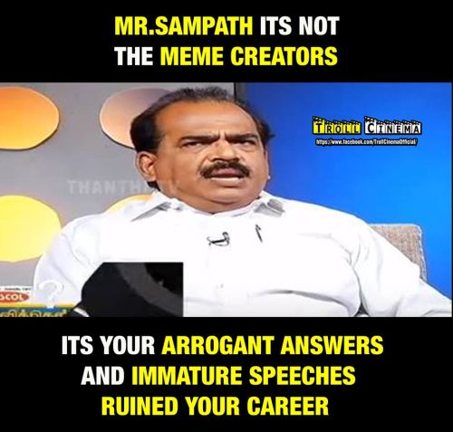 Nanjil sampath throwed out from ADMK party spokesperson memes