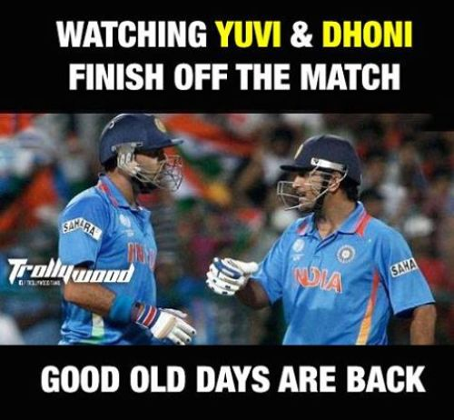 Dhoni and Yuvraj Together Photos