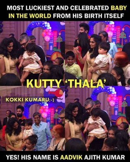 Ajith son birthday celebration pics