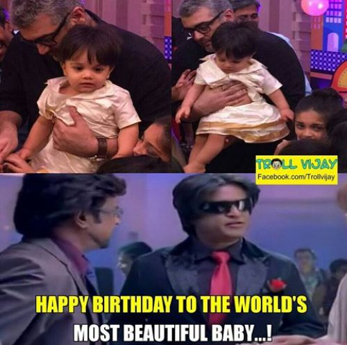 Kutty thala bday pics with thala and shalini