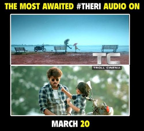 Theri audio release date is march 20