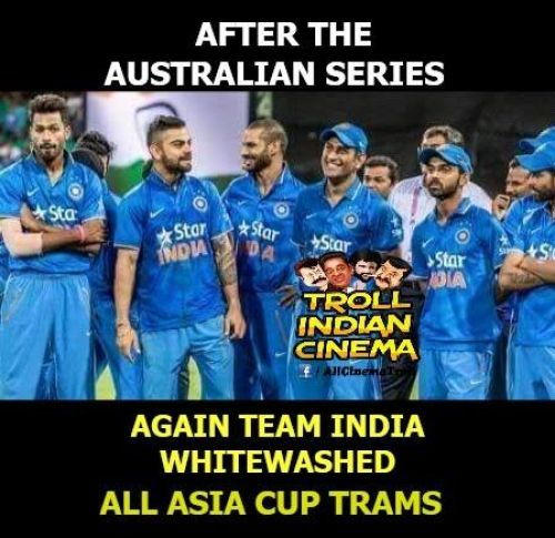 Trolls about asia cup