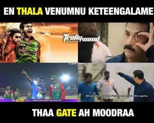 India Vs Bangladesh Asia cup final tamil memes and trolls