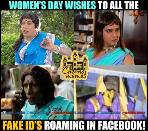 Women's day wishes to fake id memes and trolls