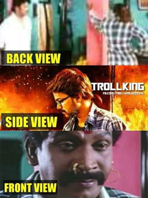 Theri vijay pony tail hairstyle memes and trolls