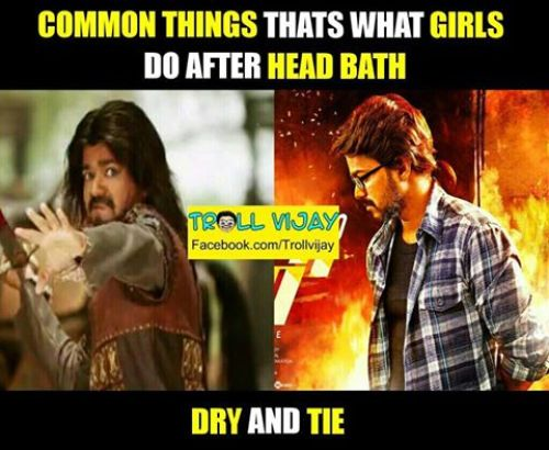 Vijay theri hairstyle memes and trolls