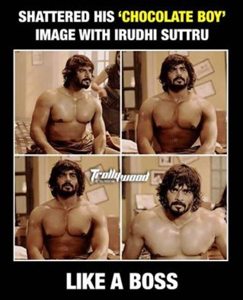 Irudhisuttru Madhavan Muscles and Arms