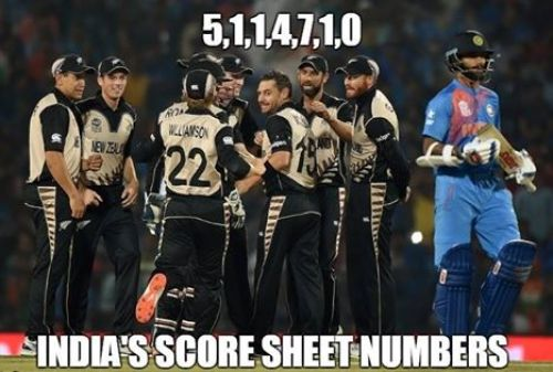 India vs Nz T20 Worldcup memes and trolls