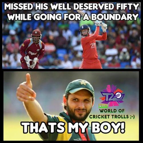 Afridi support memes