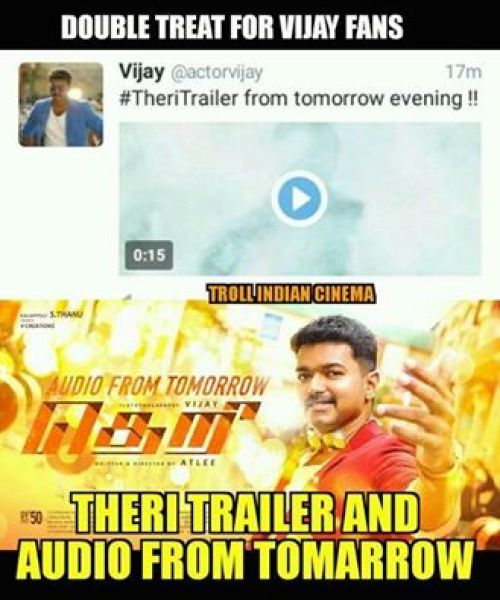Theri trailer celebration memes