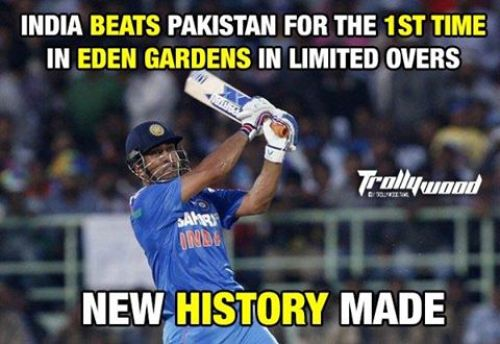 Eden gardens victory against pakistan