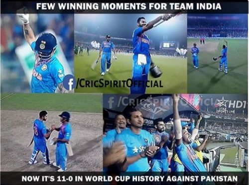 India Worldcup record aginst pakistan