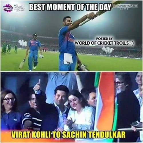 Kohli dedicated his 50 against Pakistan to Sachin Photos in Kolkata