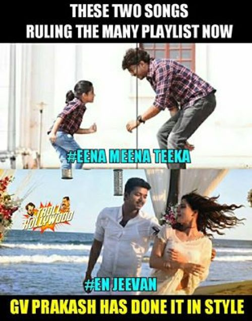 Theri audio hit memes
