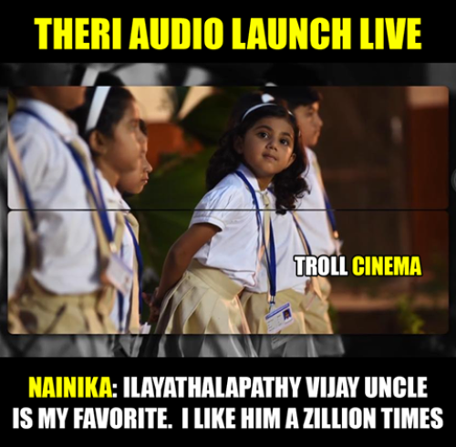 Theri audio release live memes