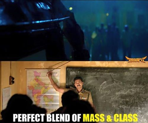 Theri trailer mass scenes