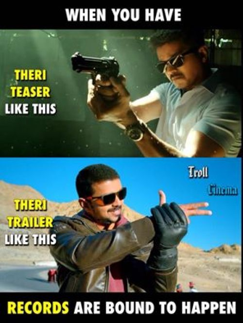 Theri vijay double get up