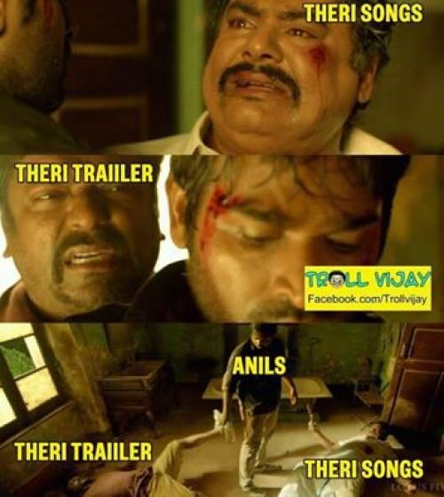 Theri trailer and songs trolls