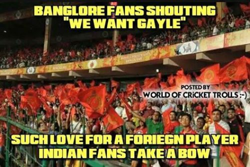Gayle in Bangalore Memes