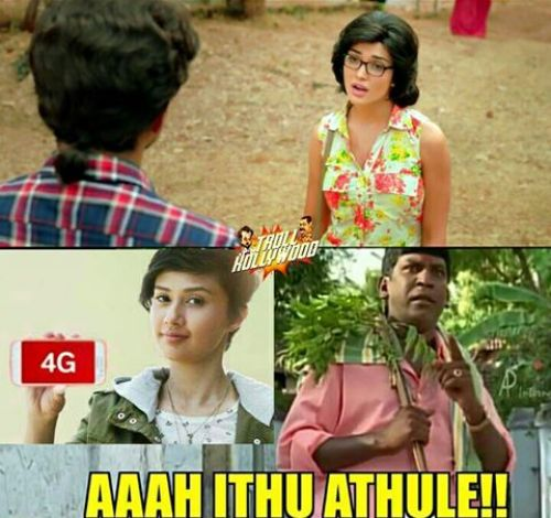 Theri Amy Jackson looks like Airtel 4g girl trolls and memes