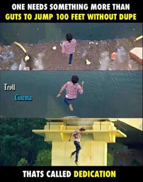 Theri vijay jump into water