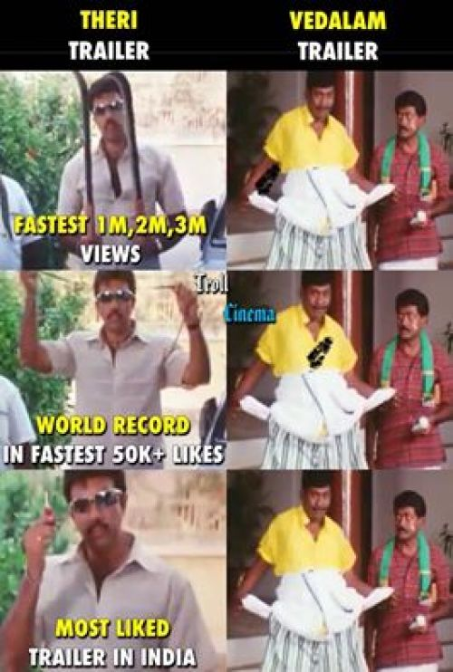 Troll ajith fans for vedalam no trailer release