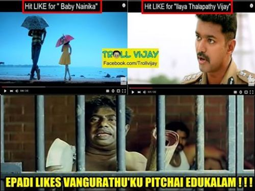 Theri trailer youtube likes trolls