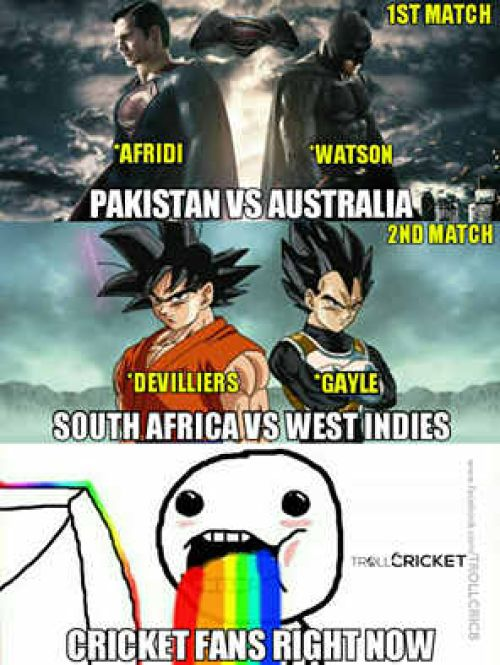 T20 Worldcup abd vs gayle and afridi vs watson trolls memes