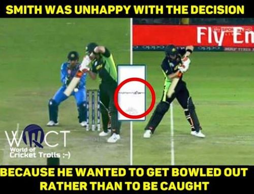 Smith acting dhoni catch troll