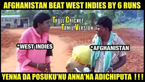 Afghan vs west indies tamil trolls