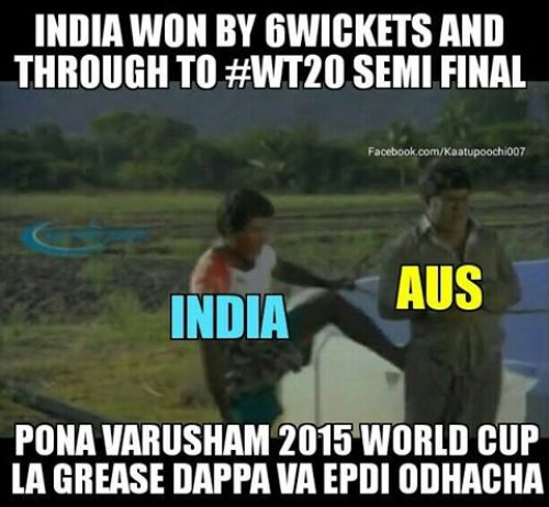 India WT20 Winning Australia trolls